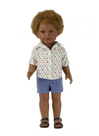 Prince Con Jeans Cortos y Camisa Estampada 45 cm