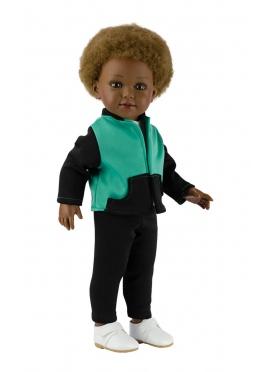 Prince Chadal Negro y Verde 45 cm