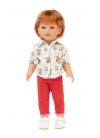 Roy Con Jeans Rojos y Camisa Estampada 45 cm