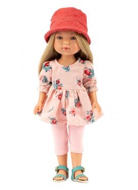 Carlota Con Jeans Rosa y Vestido Flores 28 cm