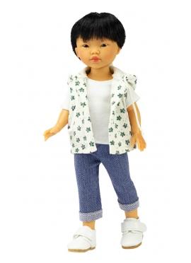 Kenzo Con Jeans E Gilet Stampato Verde 28 cm
