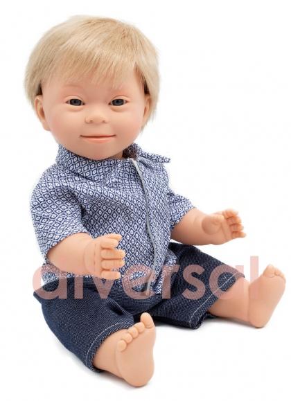 Niño Rubio Europeo Sindrome Down 40 cm
