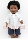 Niño Negrito Sindrome Down 40 cm