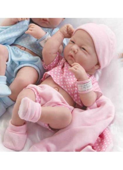 Muñecas Berenguer Boutique la Newborn LA NEWBORN, RECIEN NACIDO, NIÑA CON VESTIDO ROSADO. 36 CM