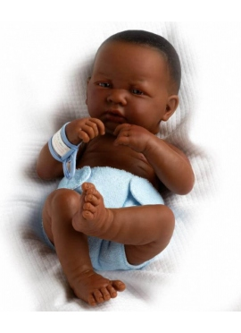 LA NEWBORN, NEWLY BORN CHILD, BOY, AFRICAN-36 CM