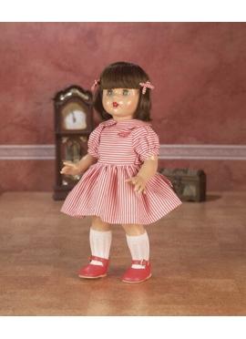 Marienkäfer Perez Kleid mit Streifen Weiß und rot