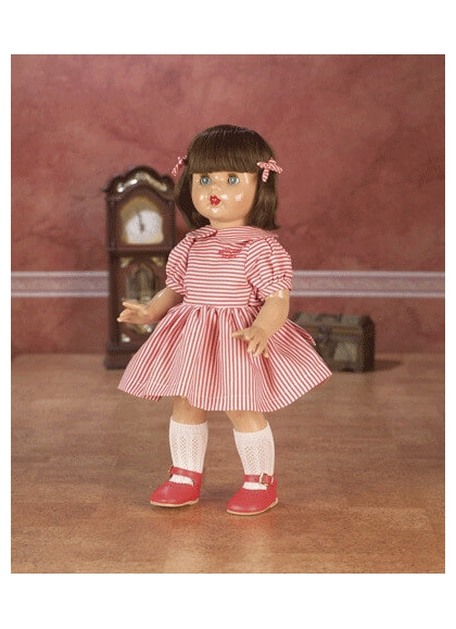 Mariquita Perez Dress with Stripes White and red