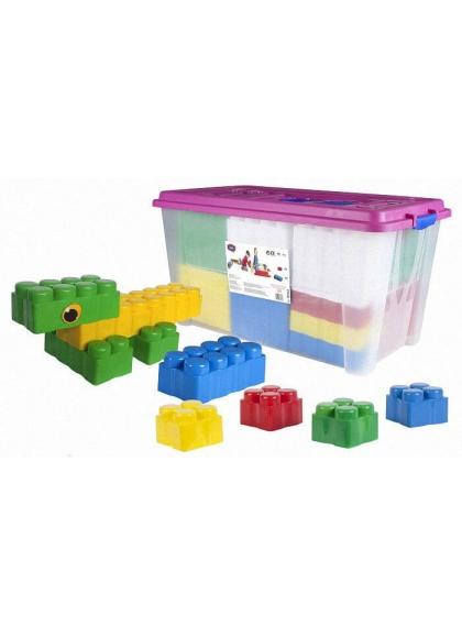 Bloques Gigantes Cubeta XXL 60 piezas