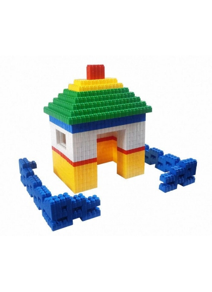 Juguetes Construcciones y Montables Bloques Bloques Gigantes Casa y Valla 384 piezas