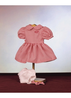 DRESS WITH RED AND WHITE STRIPES