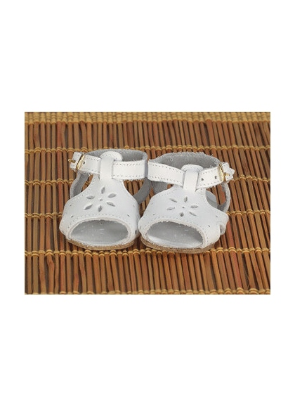 Sandals White Leather