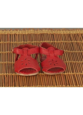 Sandals In Red Leather