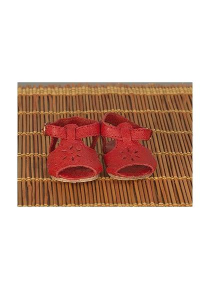 Sandales En Cuir Rouge