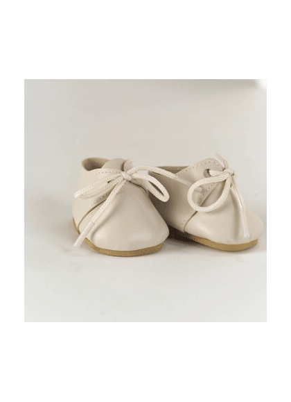 SHOES LEATHER BEIGE WITH LACE