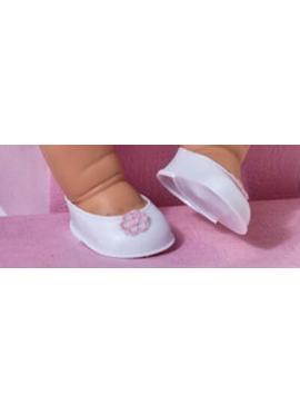 Chaussures Blanc Rose Fleur