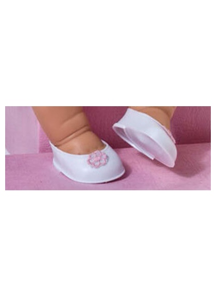 Shoes White Pink Flower