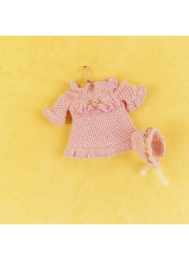 MINI KNIT DRESS SALMON