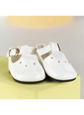 SHOE BUCKLE WHITE