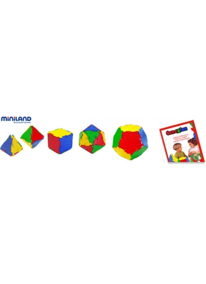 The connection of the Platonic Solids 54 PCs Pot with Handle