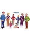 Европейская семья 8 фигурок