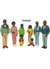 Familia Africana 8 Figuras