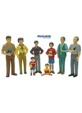 Famille Asiatique, 8 Pièces