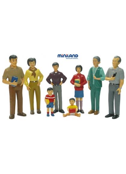 Азиатская семья 8 фигурок