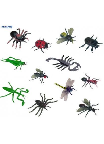 Insectos - 12 Figuras en Contenedor