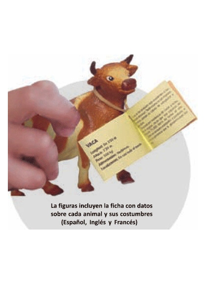 Animales Granja con Bebés - 10 Figuras en Bote con Asa