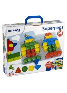 Portfolio Karton Mosaik Riese Platte + 4 Modellen Sortiert + 64 Superpegs