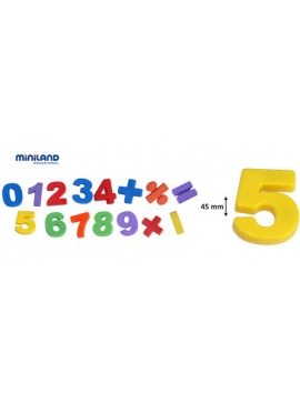 Magnetic numbers Jumbo 45 mm 68 PCs, Bank