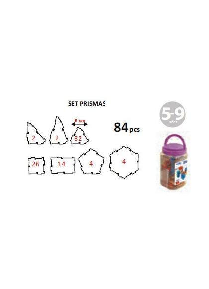 Free Set of Prisms 84 PCs Pot with Handle
