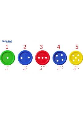 Les boutons de 140 pcs + 10 Lacets