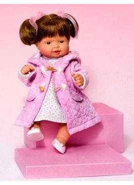 Платье Cuco и розовое вязаное пальто