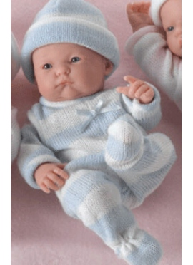 MINI LA NEWBORN,CHILD, costumes knit-3 finishes MOUTH partially open