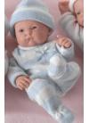 Muñecas Berenguer Boutique Mini la Newborn MINI LA NEWBORN,NIÑO, trajes de punto-3 acabados BOCA SEMIABIERTA