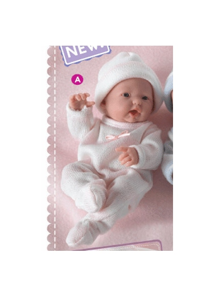 Muñecas Berenguer Boutique Mini la Newborn MINI LA NEWBORN,NIÑA,trajes de punto- 3 acabados BOCA ABIERTA