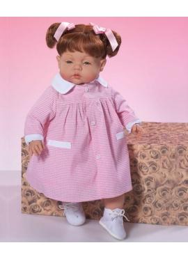 TINA CON BABY VICHY ROSA