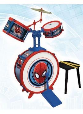 Bateria Sencilla con Banqueta Spiderman