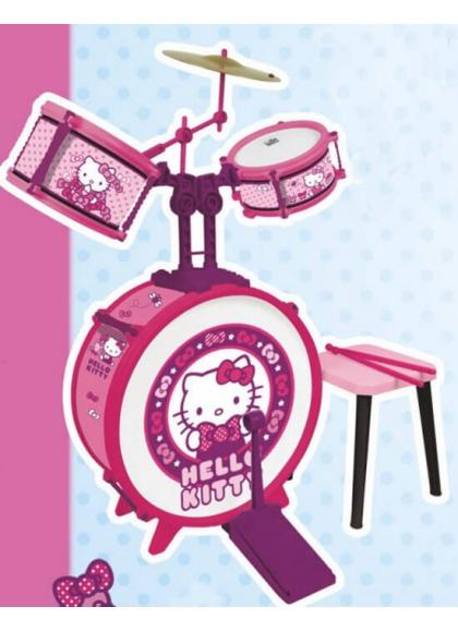La batteria con un Cuscino Hello Kitty