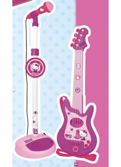 Conjunto Guitarra y Micro Hello Kitty