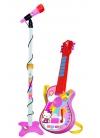 Conjunto Guitarra Electrónica con Micro Hello Kitty