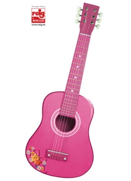 Guitare en Bois 65 cm - Rose