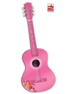 Guitare en Bois 75 cm - Rose