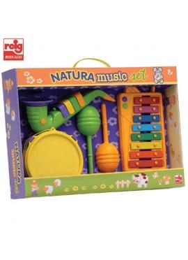Set Xilofón, Tambour, Saxophone et du Papier (Matériaux écologiques)