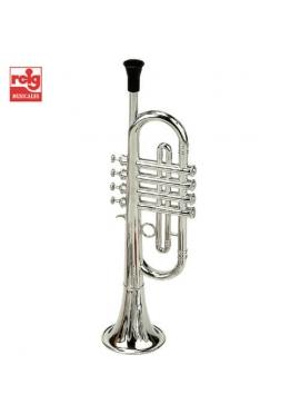 Trompeta Metalizada 4 Pistones en Estuche