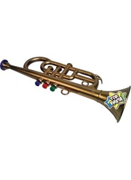 Trompeta 3 Pistones Metalizada en Bolsa