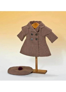 Coat and beret houndstooth