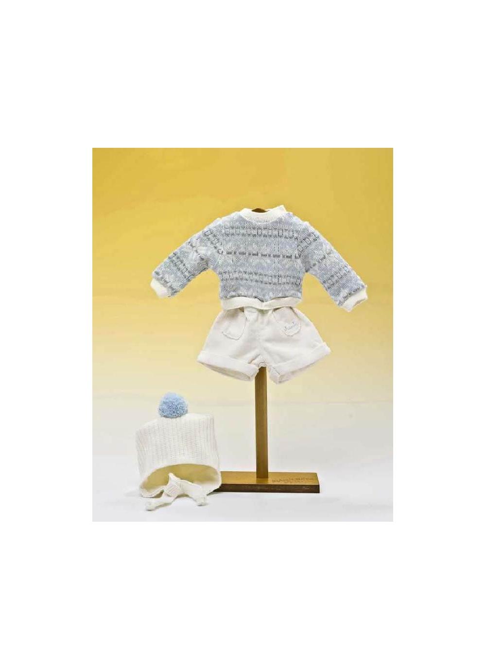 Conjunto con pantalon de pana y jersey y gorro de lana - Diversal.es ...