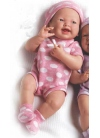 Muñecas Berenguer Boutique la Newborn LA NEWBORN, RECIEN NACIDO, NIÑA, VESTIDO LUNARES ROSA, 36 CM